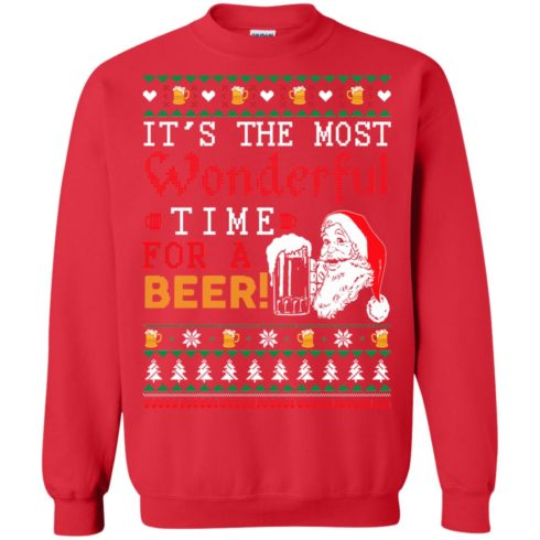 image 1501 490x490px It's The Most Wonderful Time For A Beer Christmas Sweater