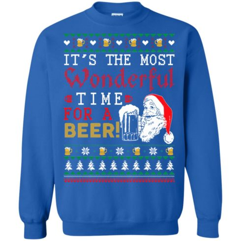image 1503 490x490px It's The Most Wonderful Time For A Beer Christmas Sweater