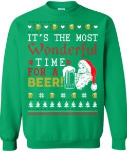image 1507 247x296px It's The Most Wonderful Time For A Beer Christmas Sweater