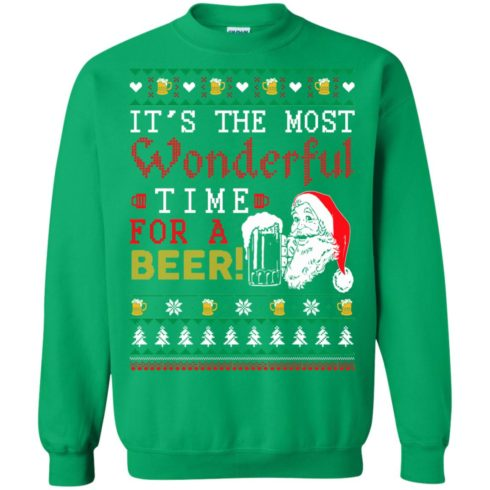 image 1507 490x490px It's The Most Wonderful Time For A Beer Christmas Sweater