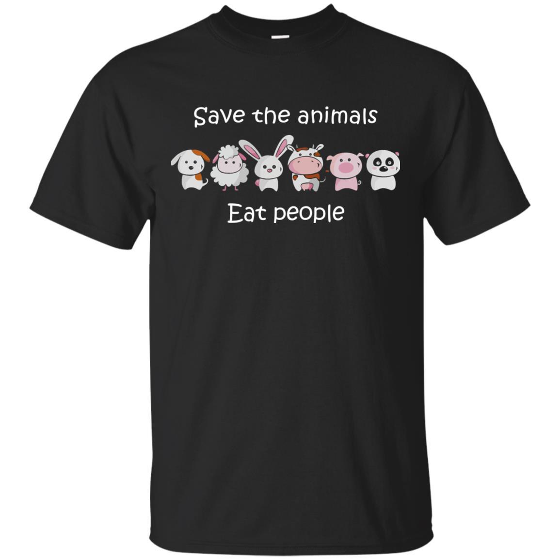 image 1509px Funny vegan shirt: save the animals eat people t shirt, hoodies, tank top