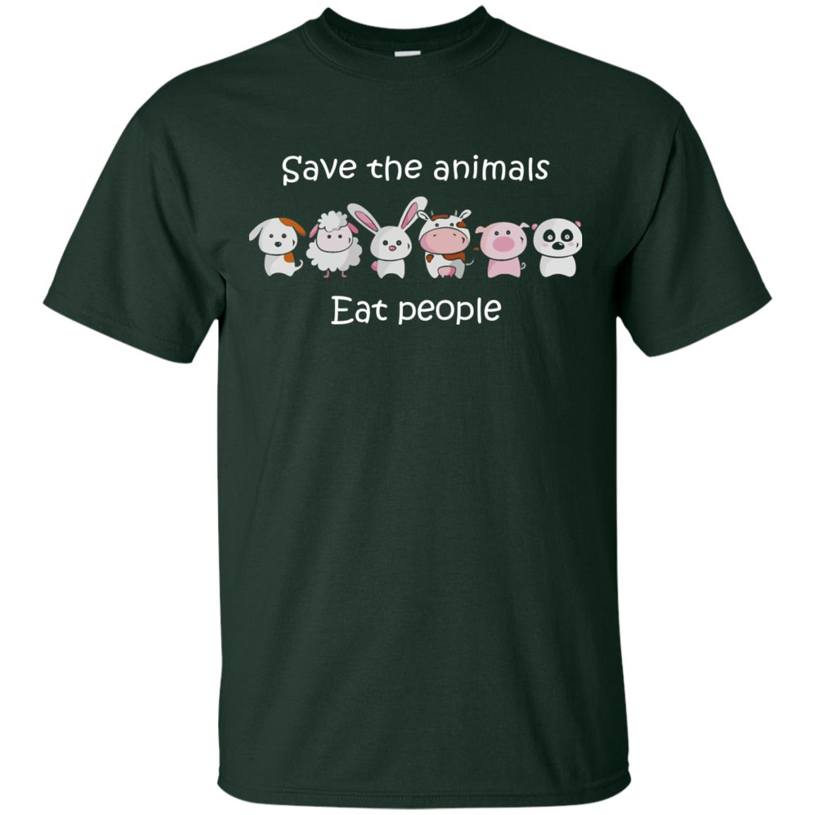 image 1510px Funny vegan shirt: save the animals eat people t shirt, hoodies, tank top