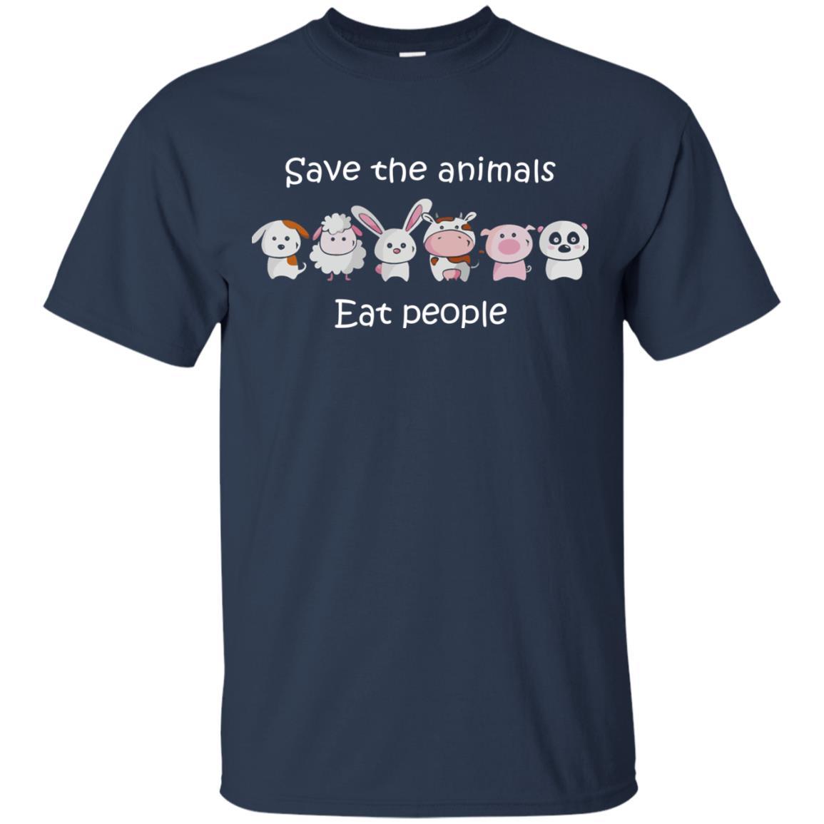 image 1511px Funny vegan shirt: save the animals eat people t shirt, hoodies, tank top