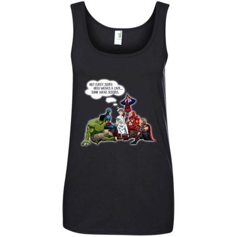 image 17 490x490px Nurse and Superherose shirt: Nurse Not Every Super Hero Wears A Cape Some Wear Scrubs T Shirt