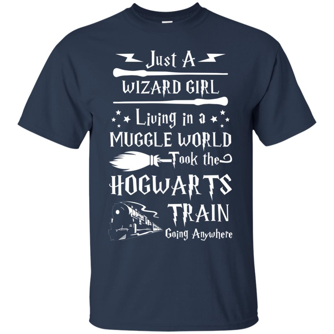 image 1703px Just A Wizard Girl Living in a Muggle World T Shirts, Hoodies, Sweater