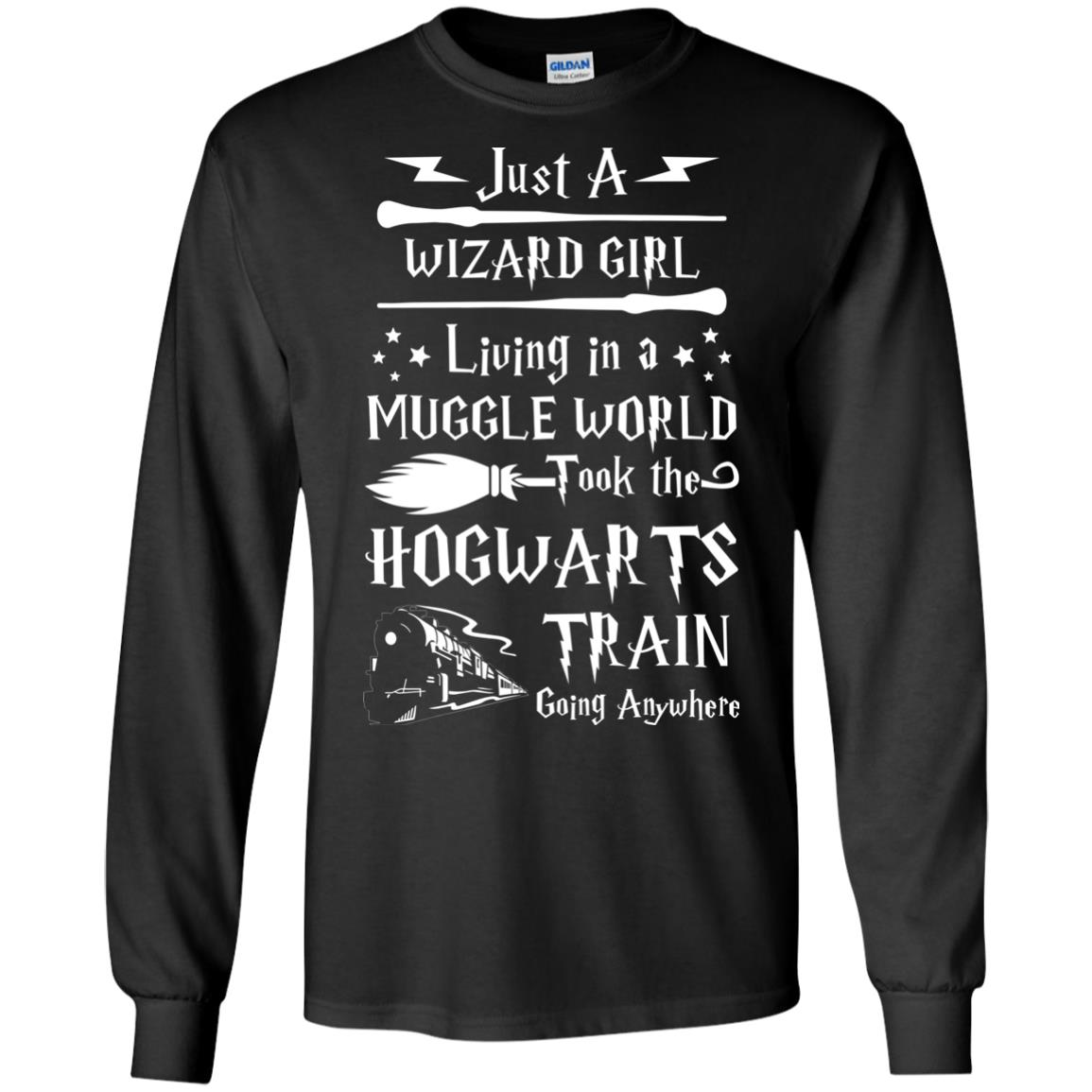 image 1706px Just A Wizard Girl Living in a Muggle World T Shirts, Hoodies, Sweater
