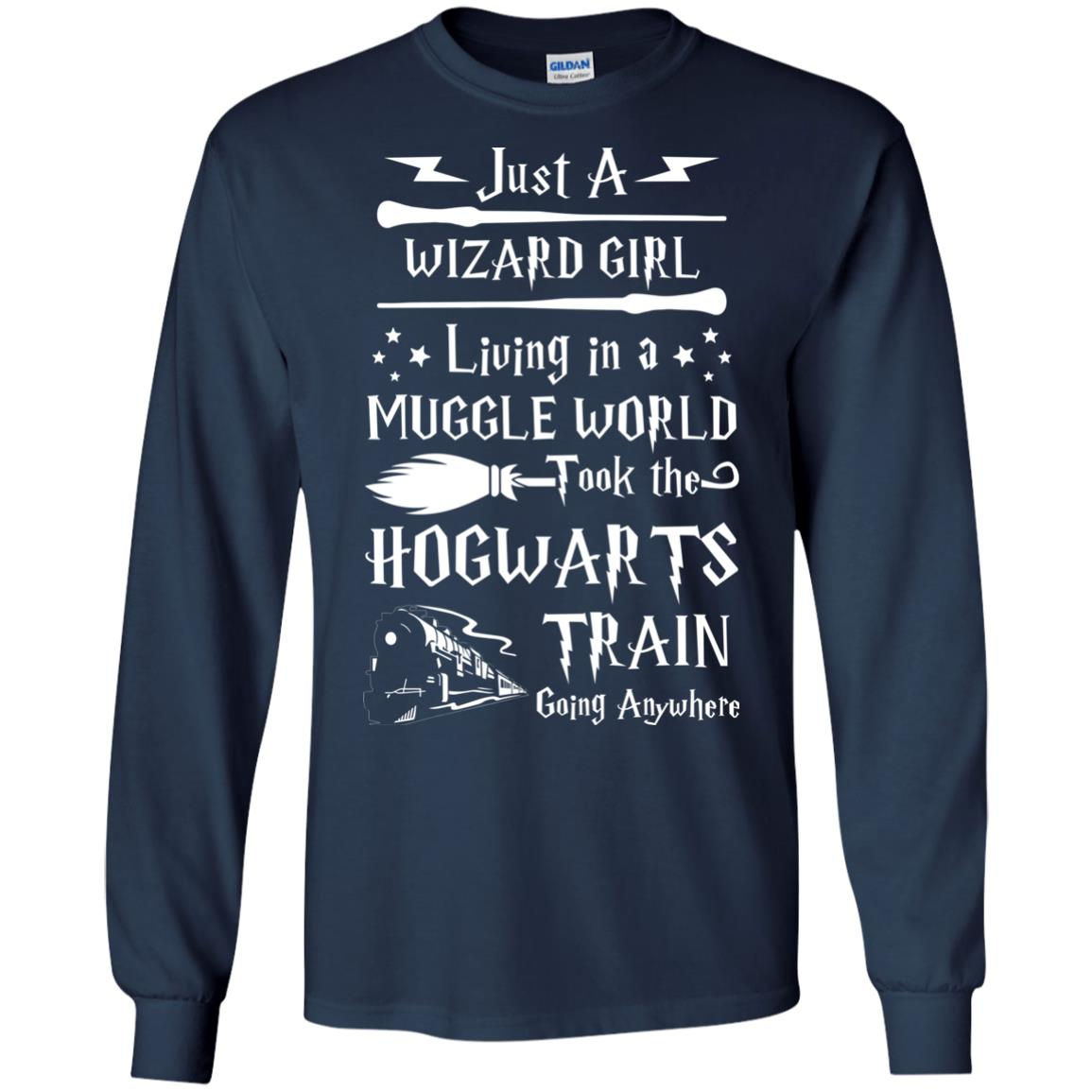 image 1707px Just A Wizard Girl Living in a Muggle World T Shirts, Hoodies, Sweater