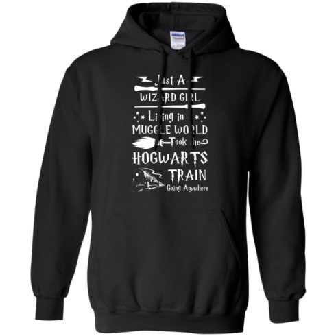 image 1708 490x490px Just A Wizard Girl Living in a Muggle World T Shirts, Hoodies, Sweater