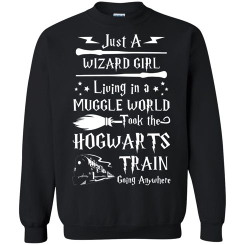 image 1710 490x490px Just A Wizard Girl Living in a Muggle World T Shirts, Hoodies, Sweater