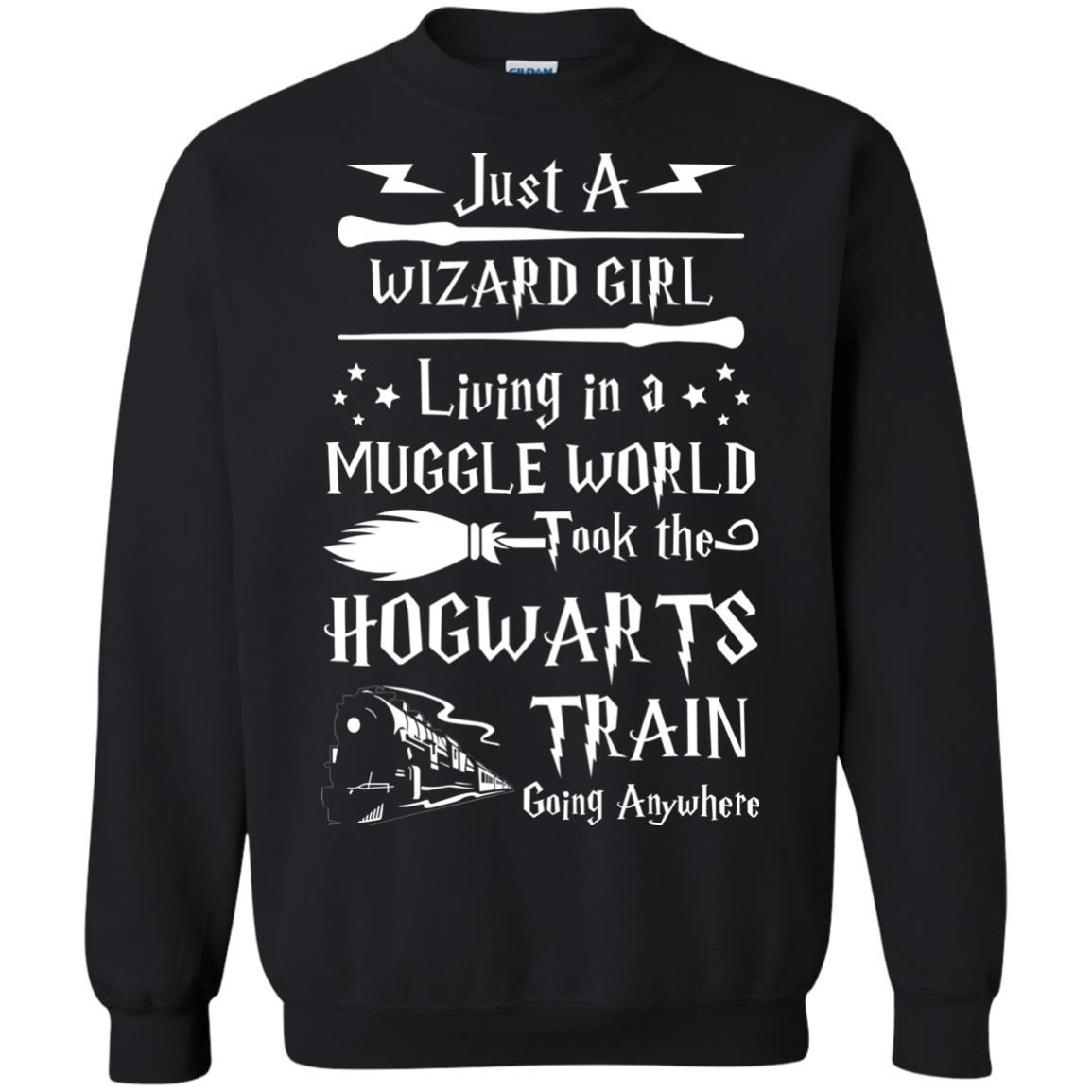 image 1710px Just A Wizard Girl Living in a Muggle World T Shirts, Hoodies, Sweater