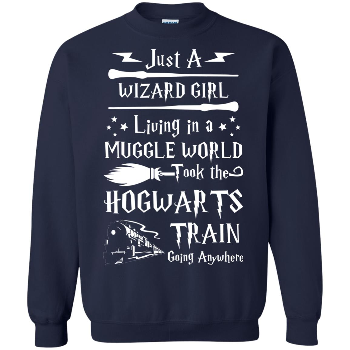 image 1711px Just A Wizard Girl Living in a Muggle World T Shirts, Hoodies, Sweater