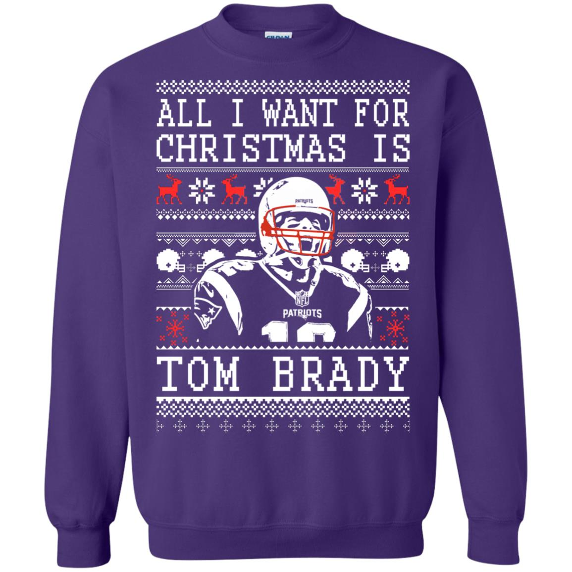 image 1891px All I Want For Christmas Is Tom Brady Christmas Sweater