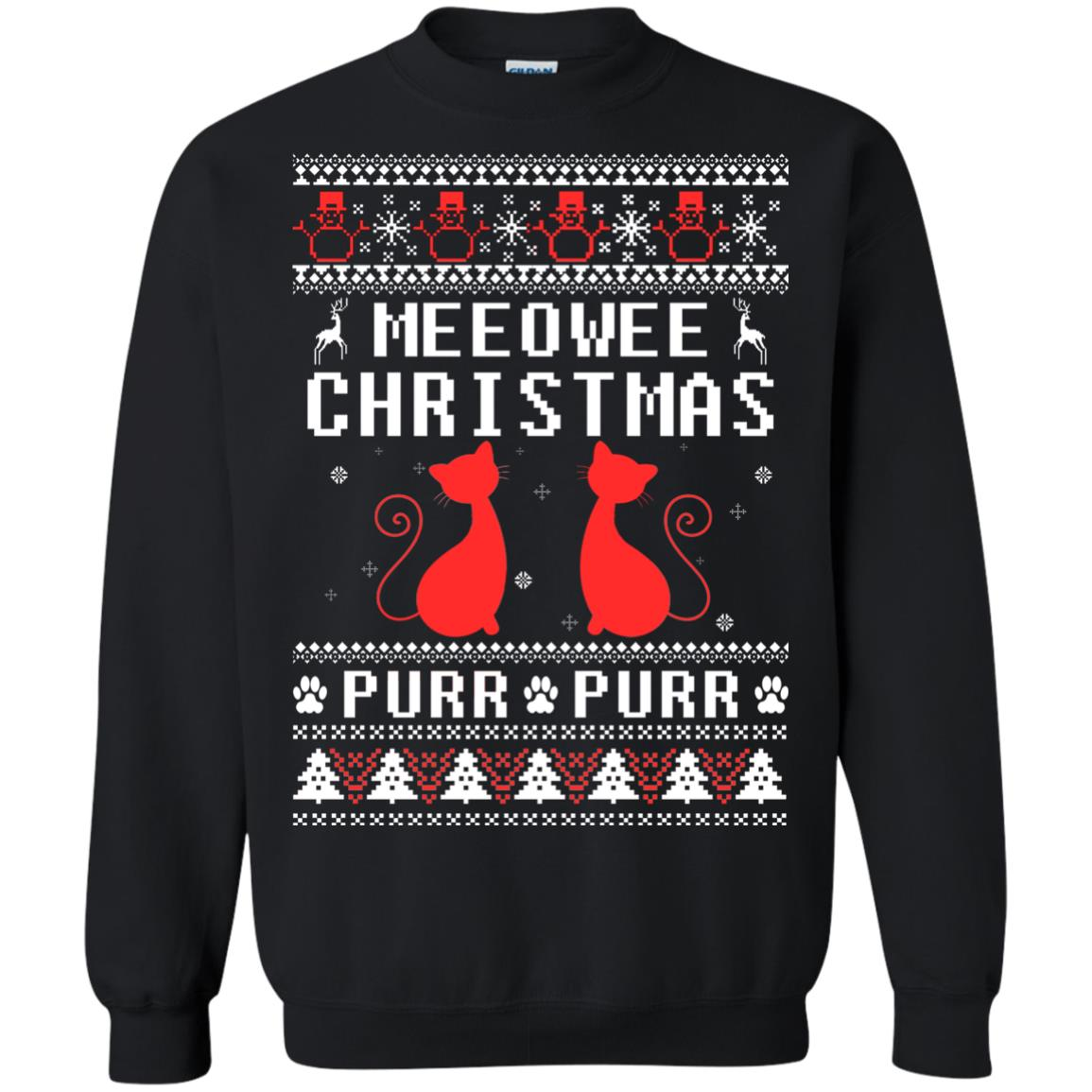 image 1894px Meeowee Christmas Pur Pur Pur Cat Lovers Christmas Sweater