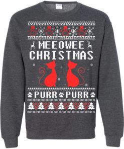 image 1895 247x296px Meeowee Christmas Pur Pur Pur Cat Lovers Christmas Sweater