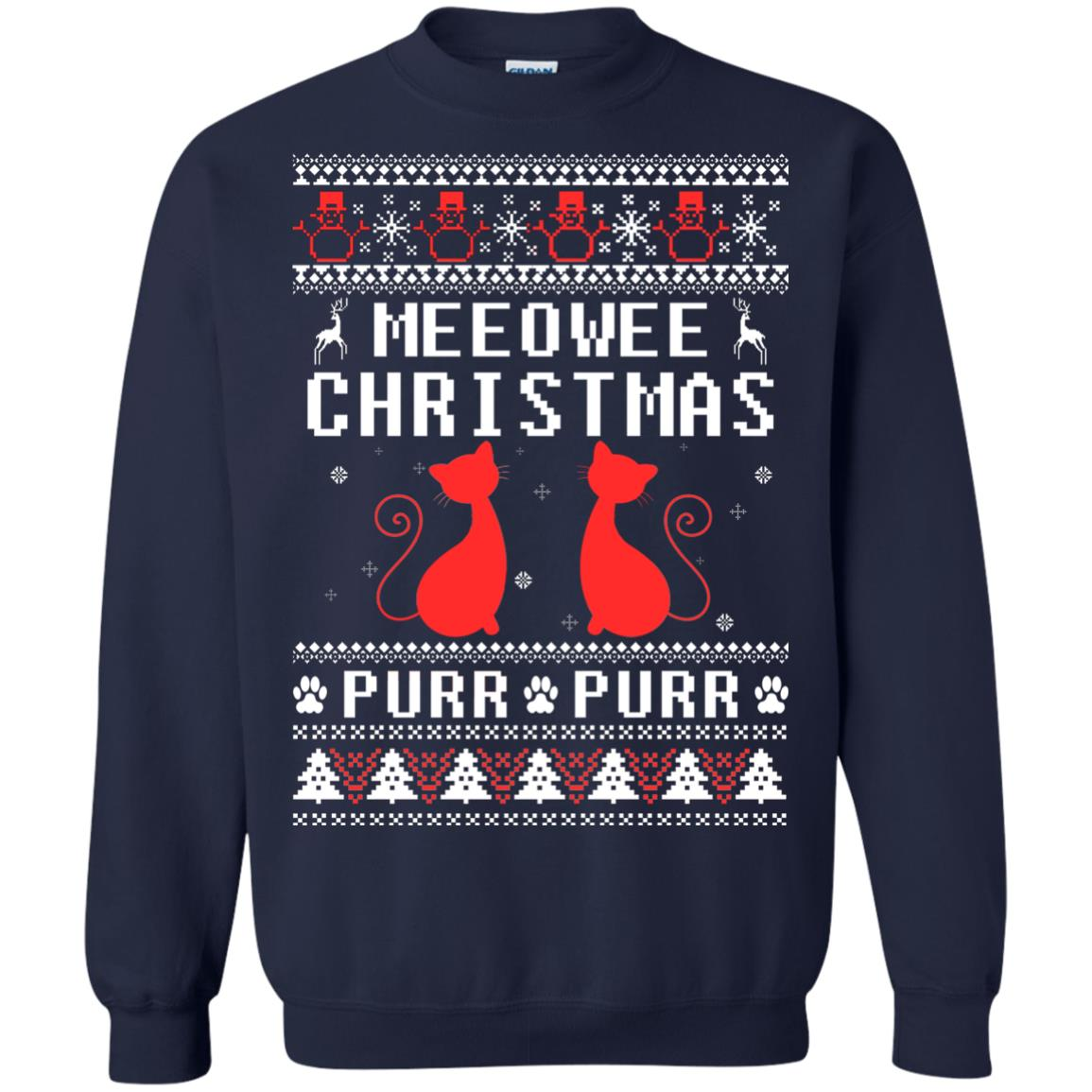 image 1897px Meeowee Christmas Pur Pur Pur Cat Lovers Christmas Sweater