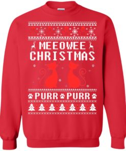 image 1898 247x296px Meeowee Christmas Pur Pur Pur Cat Lovers Christmas Sweater