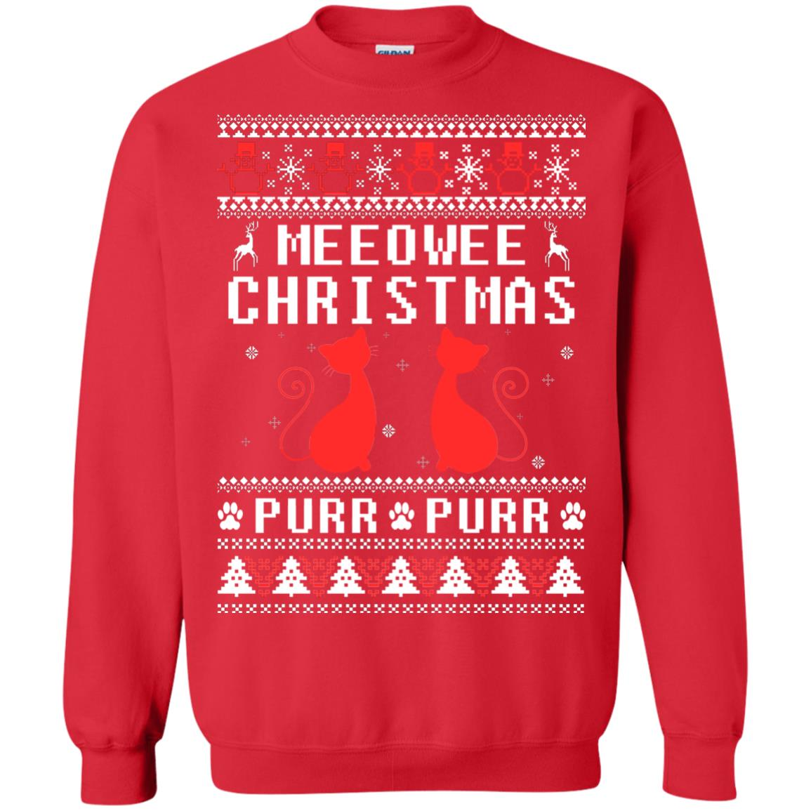 image 1898px Meeowee Christmas Pur Pur Pur Cat Lovers Christmas Sweater