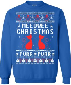 image 1900 247x296px Meeowee Christmas Pur Pur Pur Cat Lovers Christmas Sweater