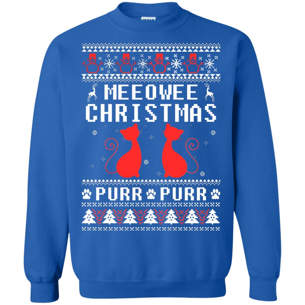 image 1900px Meeowee Christmas Pur Pur Pur Cat Lovers Christmas Sweater