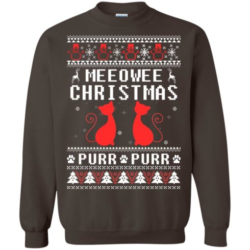 image 1901 490x490px Meeowee Christmas Pur Pur Pur Cat Lovers Christmas Sweater