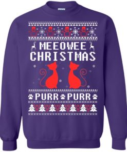 image 1902 247x296px Meeowee Christmas Pur Pur Pur Cat Lovers Christmas Sweater