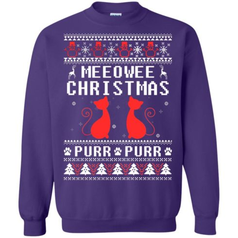 image 1902 490x490px Meeowee Christmas Pur Pur Pur Cat Lovers Christmas Sweater