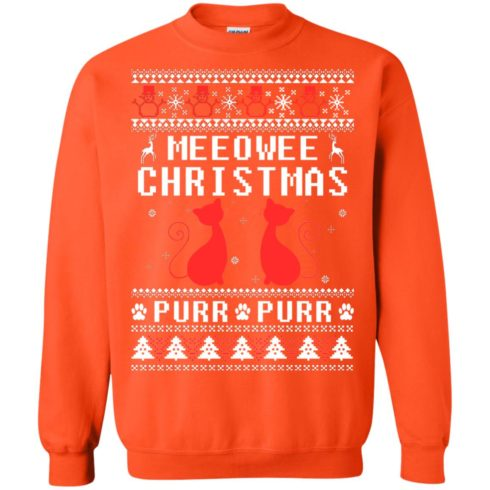 image 1903 490x490px Meeowee Christmas Pur Pur Pur Cat Lovers Christmas Sweater