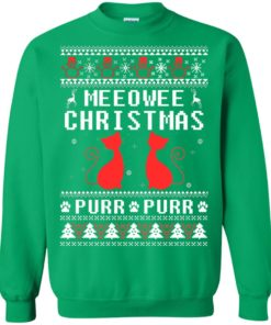 image 1904 247x296px Meeowee Christmas Pur Pur Pur Cat Lovers Christmas Sweater