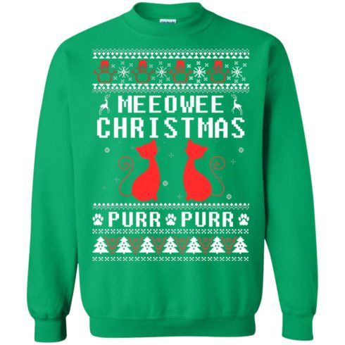 image 1904 490x490px Meeowee Christmas Pur Pur Pur Cat Lovers Christmas Sweater