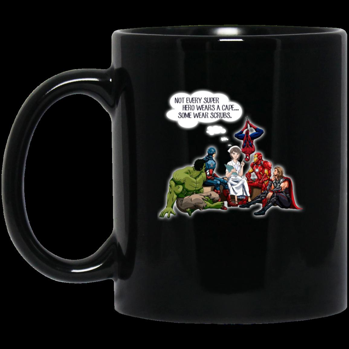 image 2px Nurse and Superheroes Coffee Mug