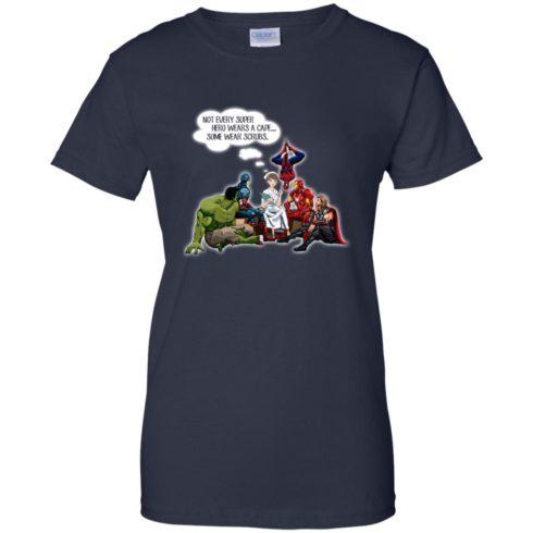 image 21 490x490px Nurse and Superherose shirt: Nurse Not Every Super Hero Wears A Cape Some Wear Scrubs T Shirt