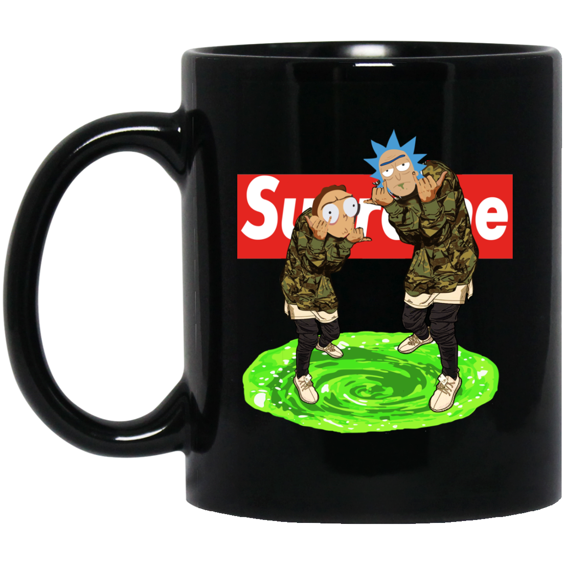 image 23px Rick and Morty Supreme Coffee Mug & Beer Stein