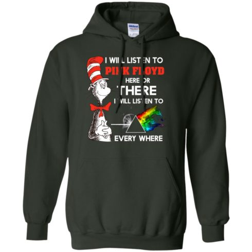 image 240 490x490px Dr Seuss I Will Listen To Pink Floyd Here Or There I Will Listen To Every Where T Shirts, Hoodies