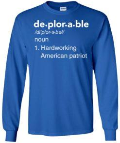 image 287 247x296px Deplorable Definition: Hardworking American Patriot Unisex T Shirts