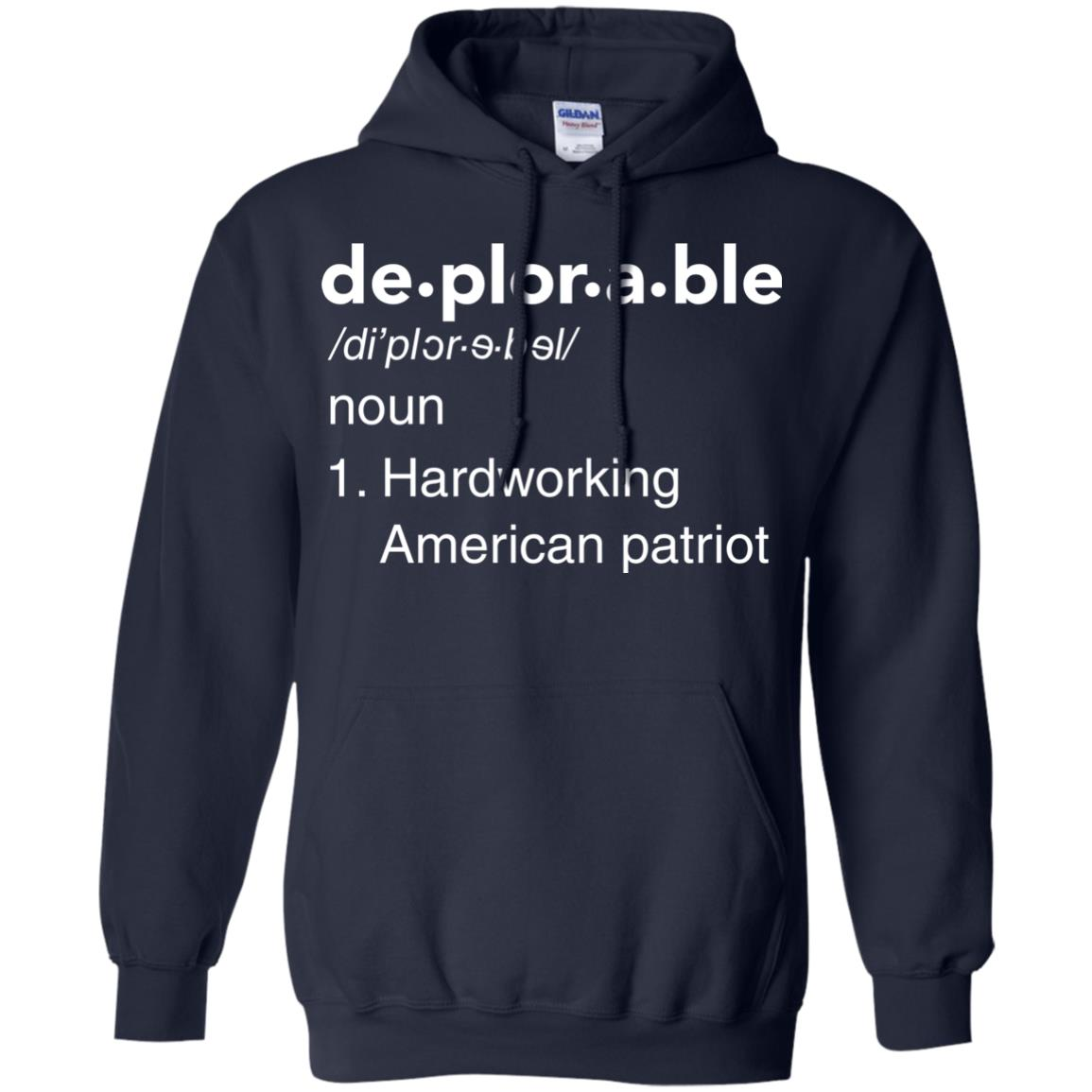 image 290px Deplorable Definition: Hardworking American Patriot Unisex T Shirts