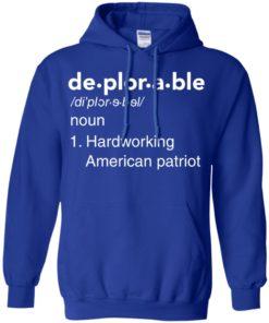 image 291 247x296px Deplorable Definition: Hardworking American Patriot Unisex T Shirts