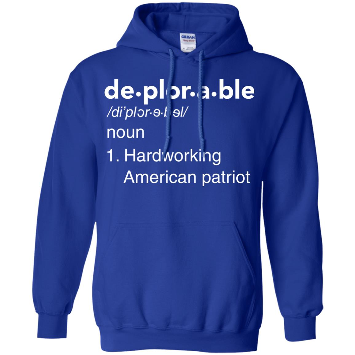 image 291px Deplorable Definition: Hardworking American Patriot Unisex T Shirts