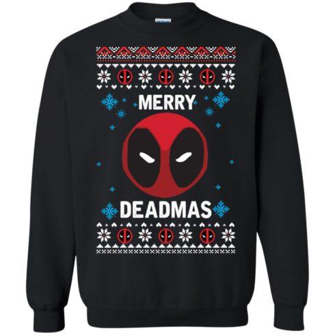 image 295 490x490px Merry Deadmas DeadPool Christmas Sweater