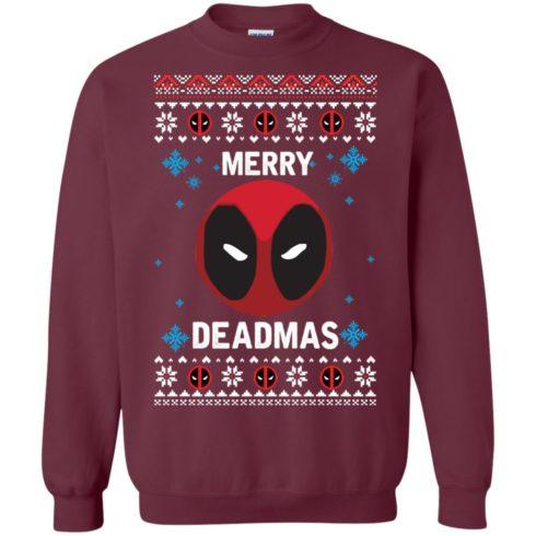image 296 490x490px Merry Deadmas DeadPool Christmas Sweater