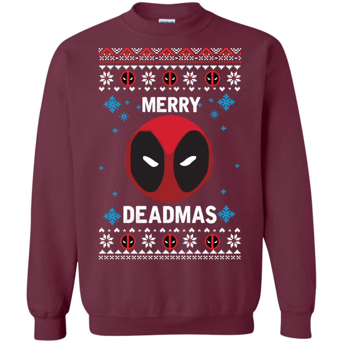 image 296px Merry Deadmas DeadPool Christmas Sweater
