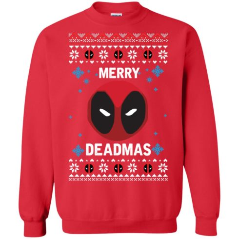 image 298 490x490px Merry Deadmas DeadPool Christmas Sweater
