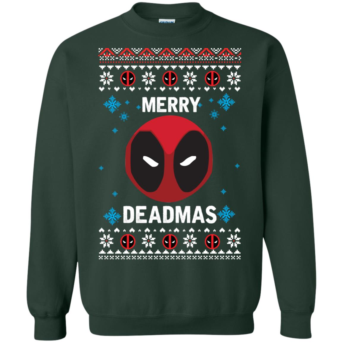 image 299px Merry Deadmas DeadPool Christmas Sweater