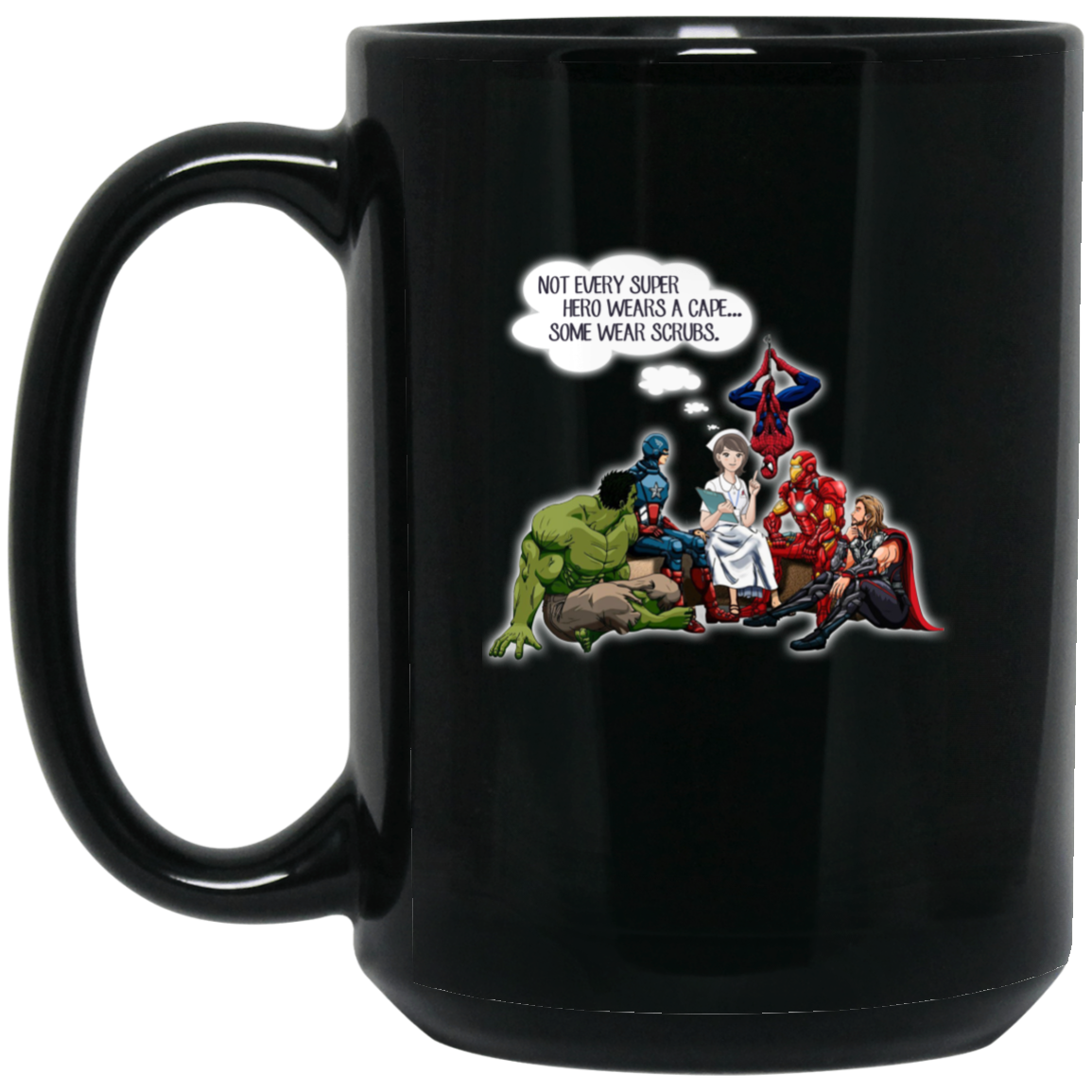image 3px Nurse and Superheroes Coffee Mug