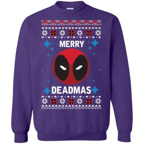 image 302 490x490px Merry Deadmas DeadPool Christmas Sweater