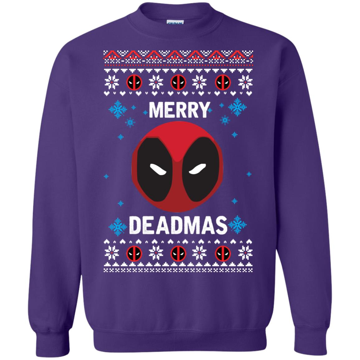 image 302px Merry Deadmas DeadPool Christmas Sweater