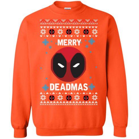 image 303 490x490px Merry Deadmas DeadPool Christmas Sweater
