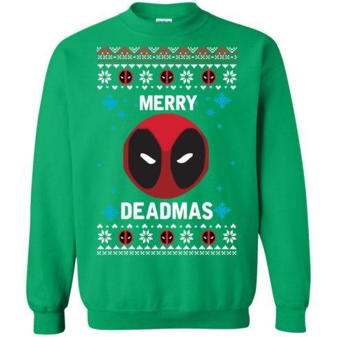 image 304 490x490px Merry Deadmas DeadPool Christmas Sweater