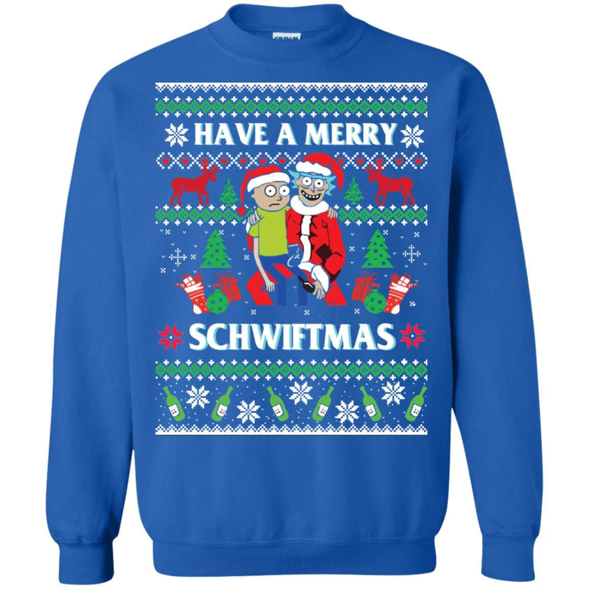 image 311px Rick and Morty: Have A Merry Schwiftmas Christmas Sweater
