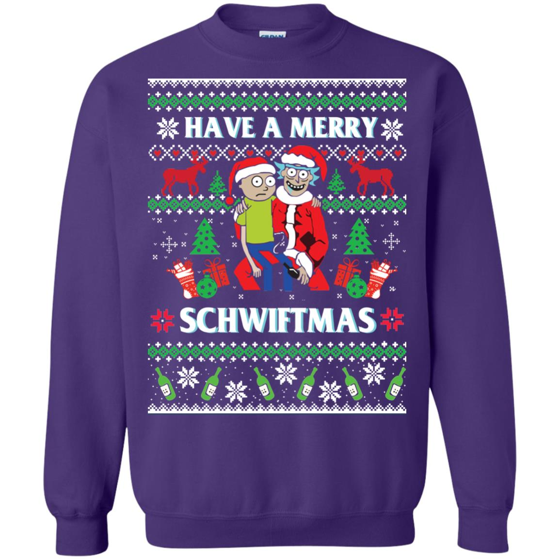 image 313px Rick and Morty: Have A Merry Schwiftmas Christmas Sweater