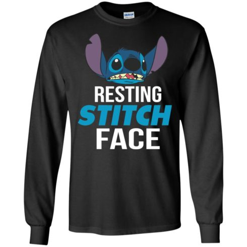 image 320 490x490px Resting Stitch Face Disney T Shirts, Hoodies, Sweater